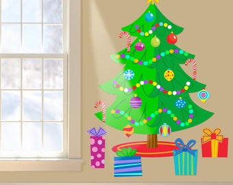Jumbo Christmas Tree Peel and Stick Wall Decal