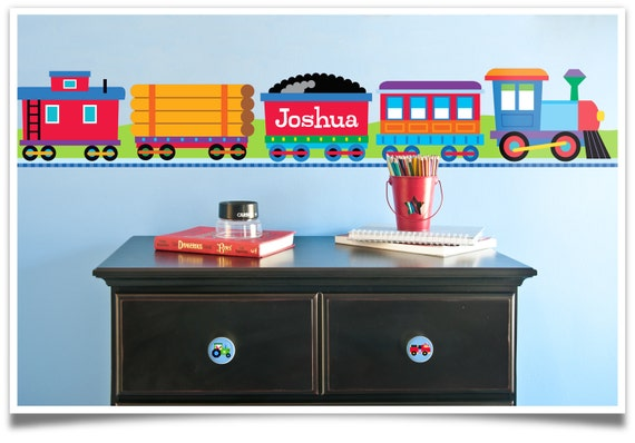 Olive Kids Personalized Train Peel And Stick Wall Border