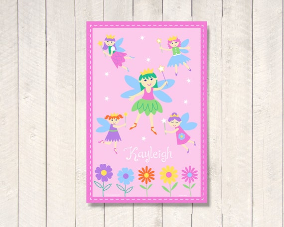 Laminated Olive Kids Kids Personalized Fairy Princess Placemat 18 x 12 Inches
