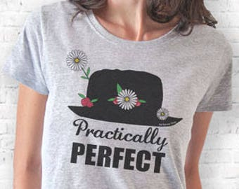 Mary Poppins T-shirt-practically perfect shirt-cool T-shirt-graphic tee-Christmas gift-gift idea-mary poppins tee-NATURA PICTA-NPTS162