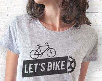 Bicycle T-shirt-let's bikeT-shirt-cycling shirt-bike shirt-bicycle tee-bicycle tank top-bike tee-gift for cyclists-men's bicycle tee-NPTS130