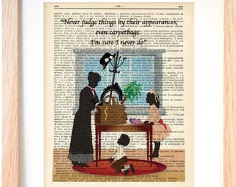 Custom Mary Poppins print for Melanie -Poppins book art-Mary Poppins Dictionary-Christmas gift-NATURA PICTA