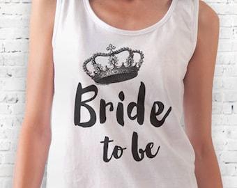Bride to be with crown T-shirt-bride women shirt-men's wedding tee-wedding woman tank top-wedding tank top-wedding gift-NATURA PICTA NPTS042