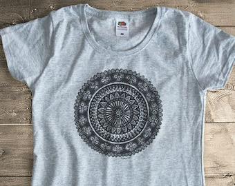 Mandala T-shirt-mandala tee-mandala tank top-women's yoga tees-men's yoga tees-yoga-gym top-zen t-shirt-holiday gift-by NATURA PICTA-NPTS017