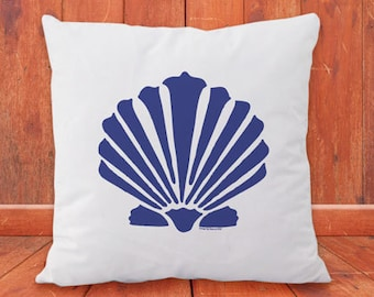 Seashell cushion cover-Marine pillowcase-coastal decor-seashell pillow cover-pillow set-beach pillow cover-design by NATURA PICTA-NPCP024