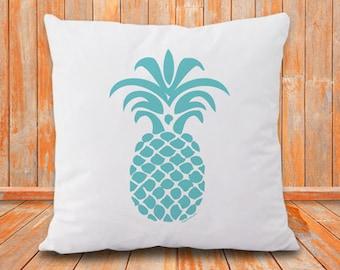 Pineapple pillow-pineapple decor-home decor-pineapple pillow cover-botanical pillow-pillow-beach pillow-coastal pillow-NATURA PICTA-NPCP048