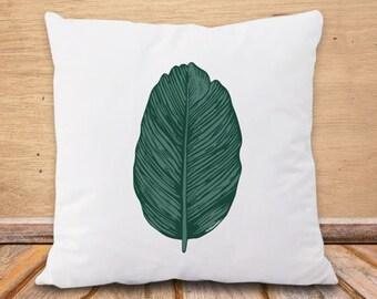 Copricuscino foglia tropicale-cuscino botanico-federa cuscino foglia-cuscino boho-cuscino personalizzato-cuscini-cuscino yoga-NPCP5
