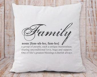 Family pillow-family definition pillow cover-home decor-Christmas pillow-housewarming gift-wedding gift-anniversary gift-NATURAPICTA-NPCP046