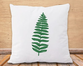 Copricuscino foglia-cuscino botanico-federa cuscino felce-cuscino boho-cuscino personalizzato-cuscini etnici-cuscino yoga-cuscino zen-NPCP4