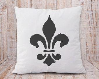 Fleur de lis pillow-french pillow cover-french pillow-fleur de lys pillow cover-shabby chic pillow-pillow-home decor-NATURA PICTA-NPCP044