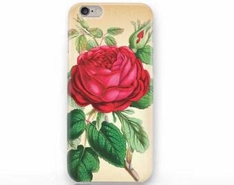Red rose iPhone X case - iPhone 8/8 Plus case - iPhone 7/7 Plus case - iPhone 6/6 Plus case- iPhone 5/5S case- Galaxy-Huawei case-NP3D209
