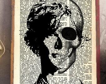 Spencer Reid Criminal Minds Dictionary Art Limited Edition! Skull Spencer Reid Poster Fan of Criminal Minds Print Last Minute Christmas Gift