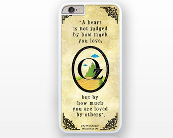 A heart is not judged Oz quote iPhone 6/6s case -iPhone 6 plus -iPhone case 5/5S-iPhone 4/4S-Galaxy S5 case-Galaxy S6-by Natura Picta-NP129