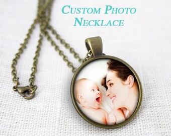 Collana personalizzata con le tue fotografie-collana con frase-collana con canzone-regalo Natale-regalo per lei-design NATURA PICTA-NPNK051