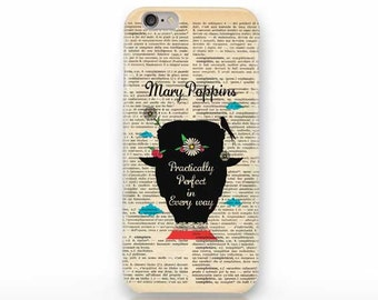 Mary Poppins Practically Perfect iPhone X case - iPhone 8/8 Plus case - iPhone 7/7 Plus case -iPhone 6/6 Plus case- iPhone 5/5S case-NP3D004