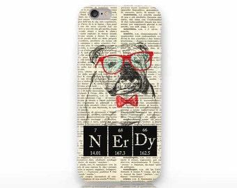 English bulldog Nerdy-iPhone X case - iPhone 8/8 Plus case -iPhone 7/7 Plus case -iPhone 6/6 Plus case- iPhone 5/5S case-Galaxy case-NP3D003