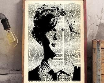 Spencer Reid Criminal Minds Dictionary Art Matthew Gray Gubler Poster Dr. Reid Criminal Minds FBI Police Series Christmas Gift Psychology