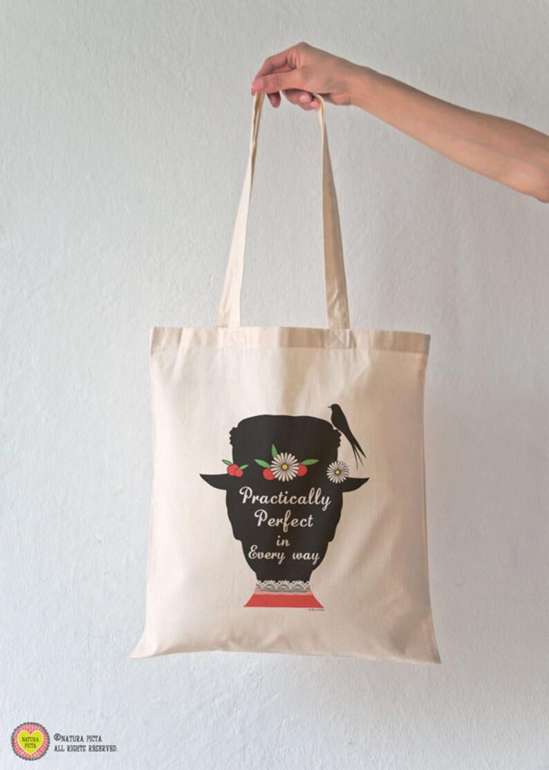 20b1eb212f Borsa di cotone Mary Poppins Practically perfect-shopper Mary   Etsy