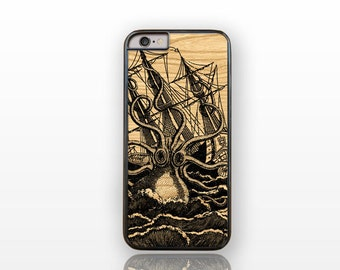 Octopus attacking the sailing ship iPhone 6/6s case -iPhone 6 plus case-iPhone case 5/5S-Galaxy S4/S5 case-Galaxy S6 by Natura Picta-NP127