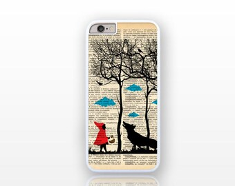 Little red and the big bad wolf iPhone 6/6s case-iPhone 6 plus case-iPhone case 5/5S-Galaxy S4/S5 case-Galaxy S6- by Natura Picta-NP008