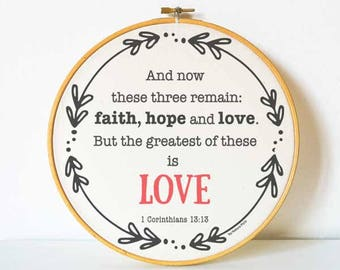 Bible verse wall art-hoop art-Christian wall art-bible hoop wall art-religious wall art-wedding gift-scripture wall art-by NATURA PICTA