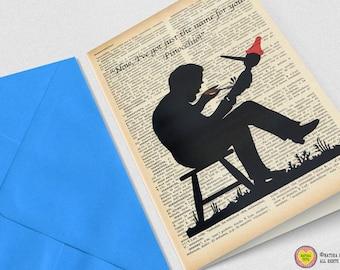 Pinocchio Greeting Card-4x6 card-Italian card-Invitation-fairy tale card-party card-retro card-birthday card-handmade card-NATURA PICTA
