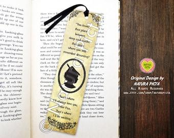 Peter Pan Bookmark-Peter Pan bookmark-Time between sleep and awake bookmark-Quote bookmark-Custom Bookmark-Design by Natura Picta BKMK002