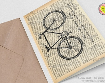 Einstein bicycle quote card-birthday card-Invitation-bicycle card-thank you card-funny card-anniversary card-custom card-card-NATURA PICTA
