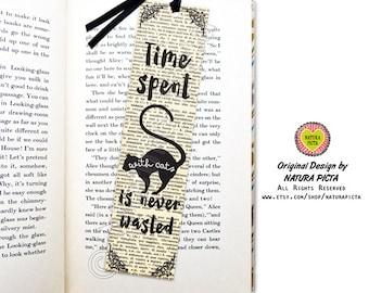 Cat quote bookmark-Freud cat bookmark-literary bookmark-favor bookmark-cat bookmark-cat lovers gift-custom bookmark-by NATURA PICTA BKMK011