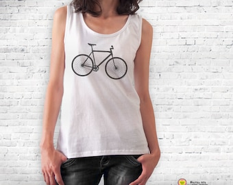 Bicycle T-shirt-cycling shirt-bike shirt-bicycle tee-bicycle tank top-bike tee-gift for cyclists-Men's Bicycle Shirt-by NATURA PICTA NPTS082