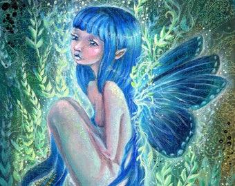Blue Fairy, archival print