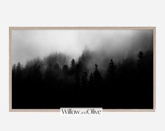Samsung Frame TV Art, Foggy Forest, Frame TV Art Landscape, Samsung Frame Art, Mountain Art, Digital Download for Samsung Frame, Nature Art