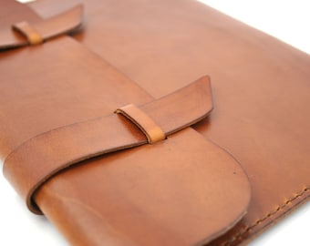 Leather iPad Case - Saddle Tan