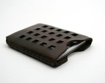 Windows Leather Credit Card Holder