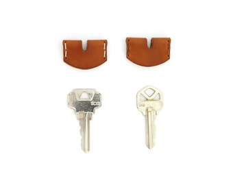Leather Key Cover - Saddle Tan