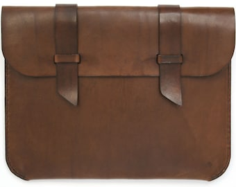 Leather iPad Case - Dark Brown