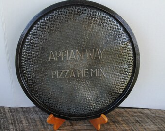 Vintage Appian Way Pizza Pie Mix Round Pizza Pan Tray