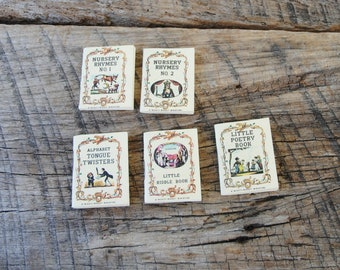 Vintage A Mighty Midget Miniature Book Set of 5