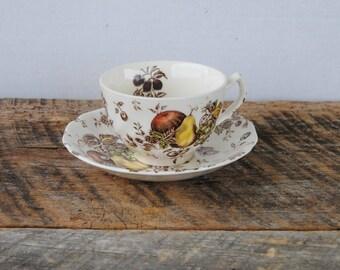 Vintage Autumn Delight Johnson Bros Coffee Tea Cup with Saucer
