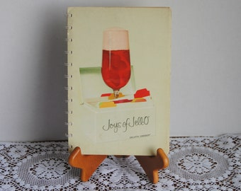 1963 Joys of Jello Recipe Book Spiral Bound