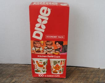 Vintage Dixie Cups 1976 Kitchen Refill 100 5 Ounce
