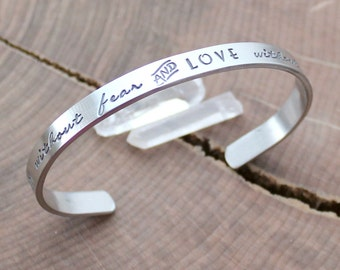 Personalized Skinny Cuff, Pewter Skinny Cuff, Hand Stamped Cuff Bracelet, Inspirational Jewelry, Quote Bracelet, Skinny Cuff, Custom Message