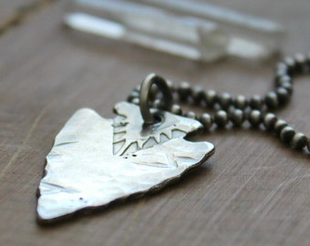 Men's Personalized Arrowhead Necklace, Custom Men's Name Necklace, Personalized Jewelry, Men's Arrow Necklace, Men's Gift - Scott Necklace