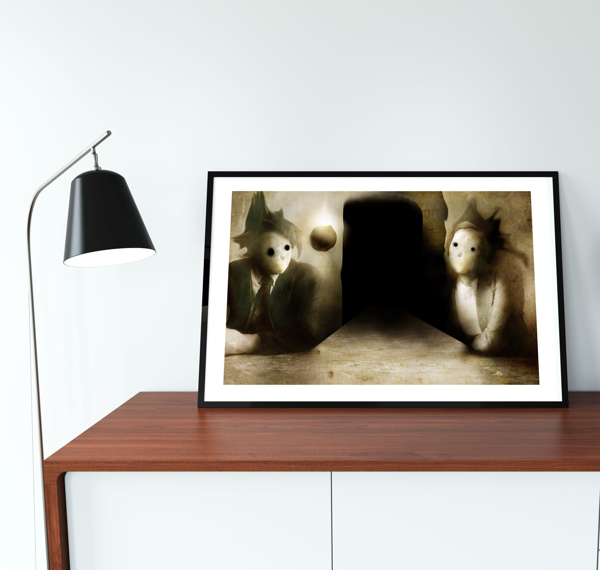 Fine art signed print Space between us size 21 x   Etsy