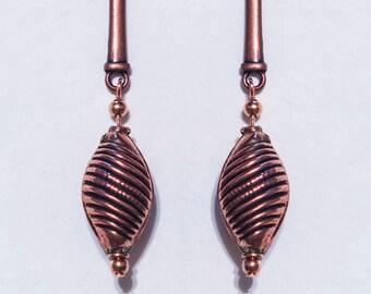 Dark Copper Drop Earrings