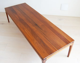 Great functional decor for home or office Rail edge Mid-Century Modern Ottoman or Low Table by Meldan 23.5 square form 6.5 high