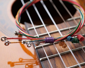 ON VACATION, Music Bracelet Colorful Guitar String Bracelet Guitar String Bangle Music gift Musician Jazz Band Orchestra unique
