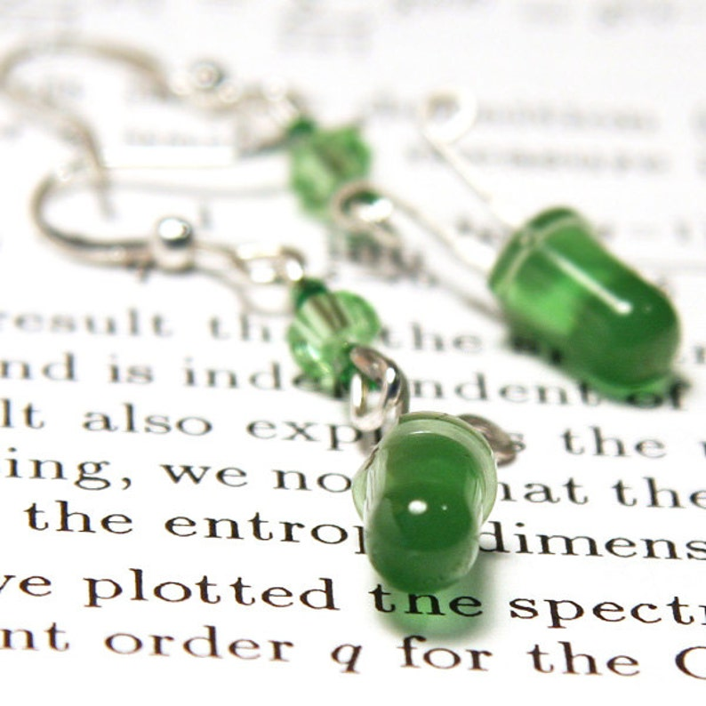 ON VACATION Bright Green Wearable Tech LED Earrings Diode image 1