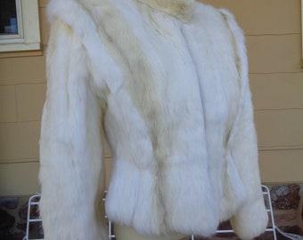 manteau d hiver 1970 hipster punk blanc veste en fourrure de lapin véritable  vintage femmes 71511cd7431