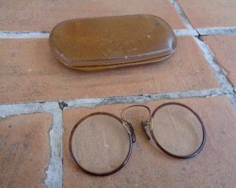 840ebae8151e Antique men s eyewear glasses steampunk hipster eyeglasses vintage  spectacles 10k gold filled 1800 s victorian